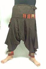 HAREM PANTS HIPPIE ALADDIN GYPSY WOMEN BOHO YOGA TROUSER MEN DANCE BLACK,GRAY