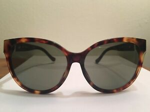 Brown Linda X Oversized Eye Tortoise Farrow The About Cat Row Details Sunglasses Shell Leather 5A4LRj