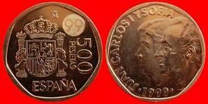 100 PESETAS 1999 JUAN CARLOS I UNCIRCULATED US SPAIN