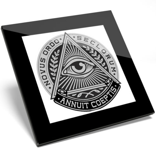 Kitchen Student Gift #4512 1 x All Seeing Eye Of Providence Glass Coaster
