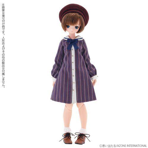 Azone Pureneemo Classical Sailor Set de una pieza púrpura Stripe Momoko Doll