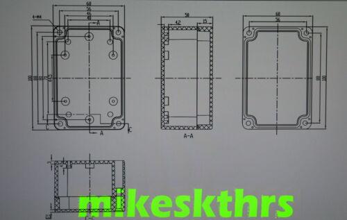 Ge.44 Leergehäuse Klemmkasten Gehäuse 100 x 68 x 50 ......IP65 Kunststoffgehäuse