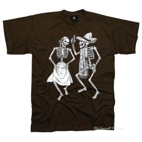 1156 BR Tatouage Rockabilly Gothique Danse Skull Metal danse macabre T-Shirt