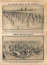 Barbed Iron Wire Barrage Imperial Russian Army Poland/Funeral Feldgrau WWI 1915