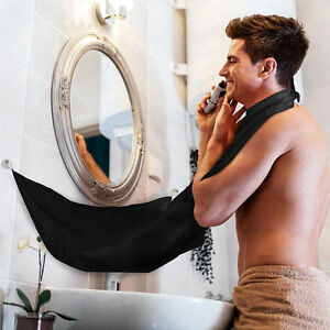 Homme-Etanche-Barbe-Rasage-Tablier-Cap-Tissu-Bavette-Visage-Cheveu-Moustaches-NF