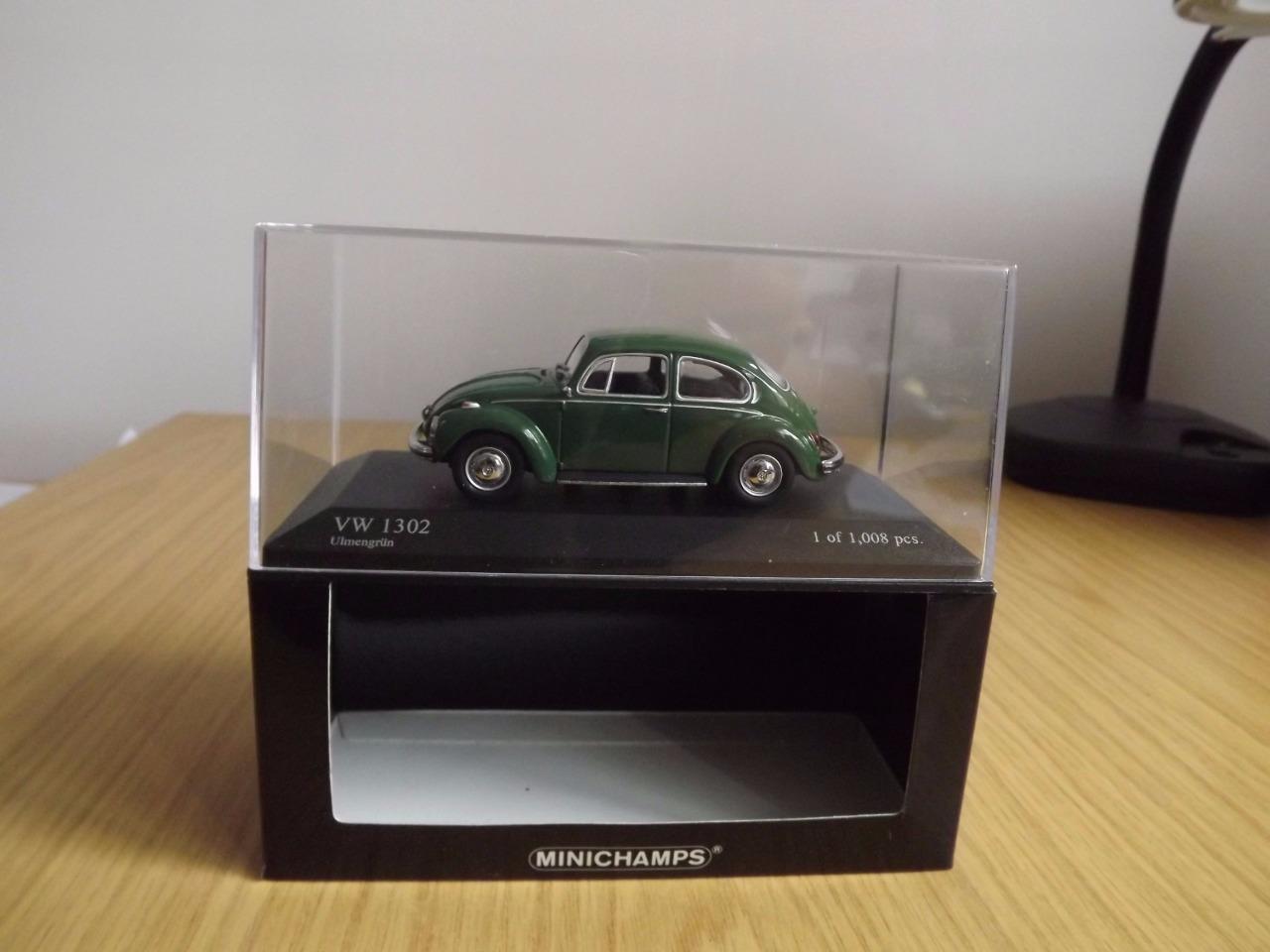 Wa67  Minichamps 430 055010 VW 1302 1970 vert - 1 43 En parfait état, dans sa boîte