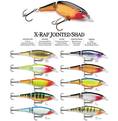 Lots of different colors.XJS13 Rapala X-Rap Jointed Shad Fishing Lures 13cm//46g