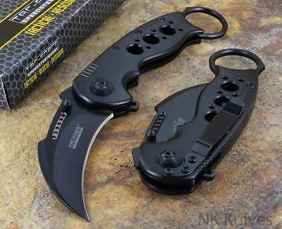 Tac Force Spring Assisted Karambit Tactical Black Open Folding Pocket Knife New