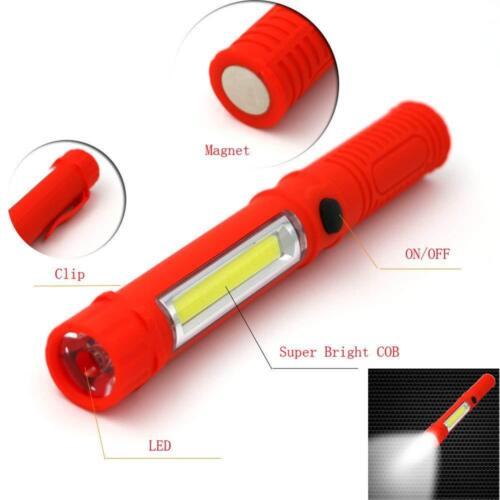 Lampe de poche torche LED COB avec embout magnétique aimant camping