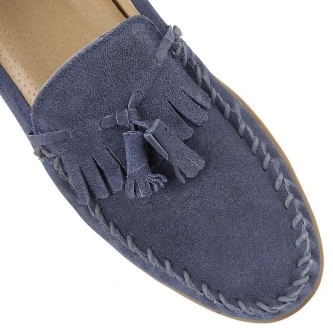 WRIGHT Nevis Dusty FRANK Blu cucito in pelle scamosciata scamosciata scamosciata Mocassini prezzo consigliato  EU 43 LG03 21 0419e3
