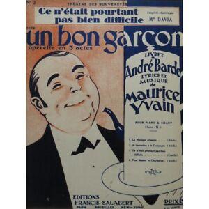 Yvain-Maurice-Diese-n-039-etait-noch-nicht-bien-schwierig-chant-Piano-1926-Partitur
