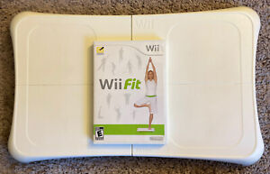 Nintendo Wii Fit Balance Board & Game Bundle *Tested & Working*