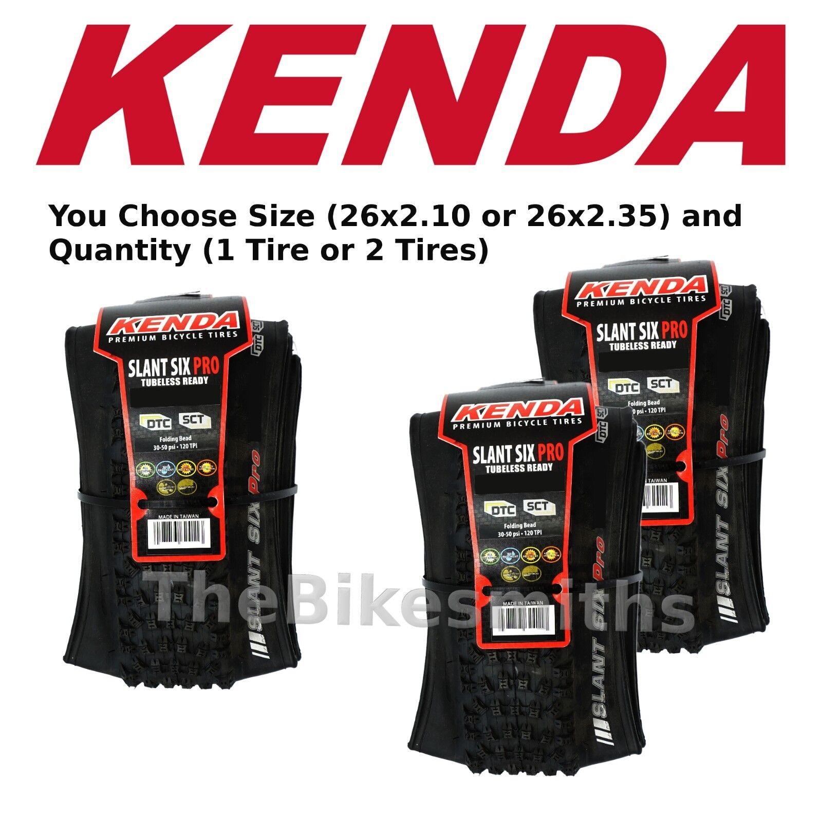 1 or 2-Pak Kenda  K1080 Slant Six 6 Pro 26  Tubeless Ready Folding Bike Tire  supply quality product