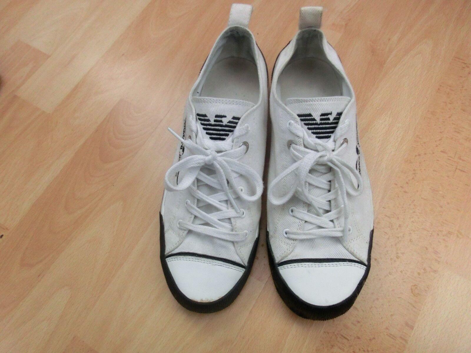 Armani Jeans Sneaker Sneaker Sneaker Turnschuhe Herren Trendfarbe weiß - Gr.41 b64c51