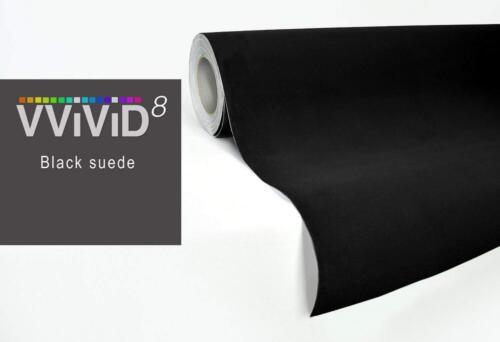 "VViViD Black Felt Matte Suede Vinyl Wrap Contact Paper Rolls 1ft x 52/"""