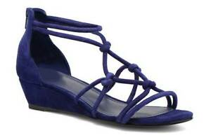 Minelli-Suede-Indigo-Strappy-Knotted-Wedge-Sandals-rrp-89-UK-7-EU-41-LG03-64