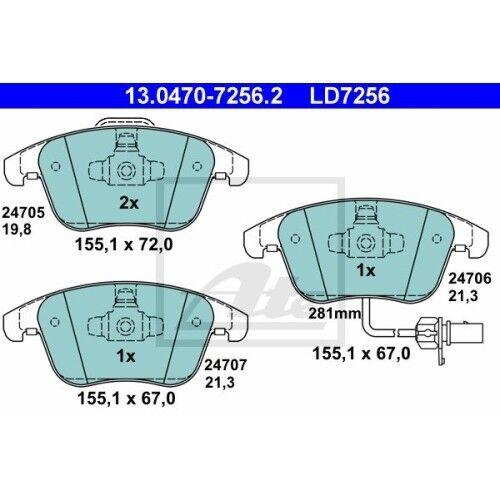 8K2 B8 ATE Ceramic AUDI A4 AUDI A4 Allroad 8K5 B8 AUDI A4 Avant 8KH B8