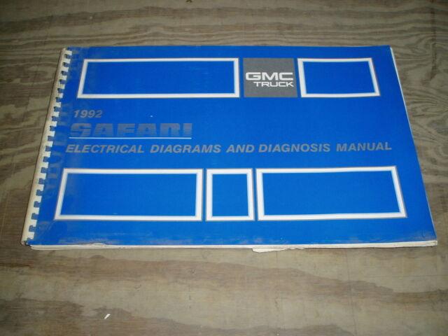 1992 Gmc Safari Van Minivan Wiring Diagrams Service Shop