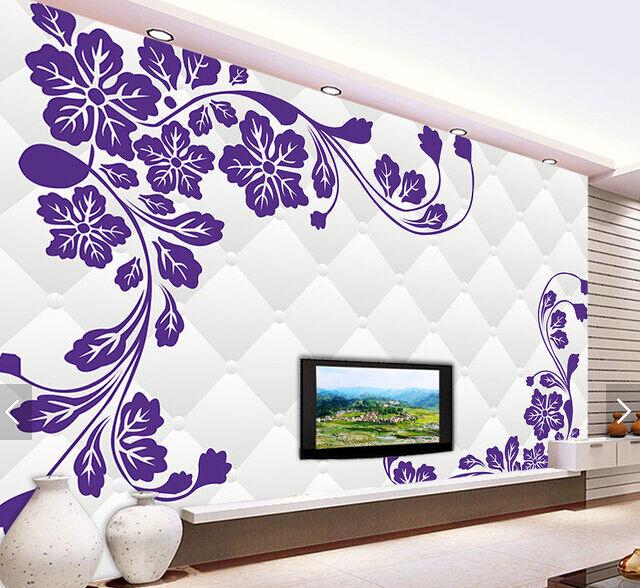 3D Petals Vine Decoration Paper Wall Print Wall Decal Wall Deco Indoor Murals