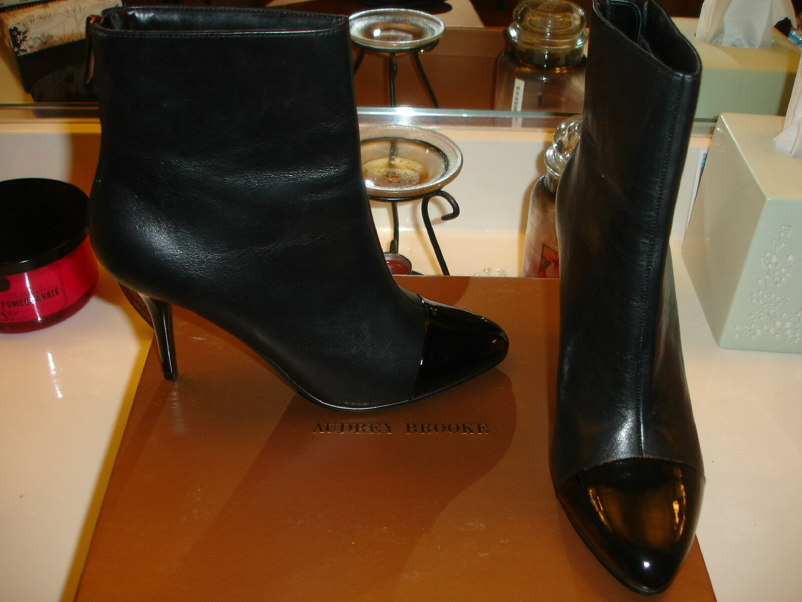 Audrey Brooke AB Kiley Leather Shoe Boots 120 8  Quality Comfortable Nice sexy