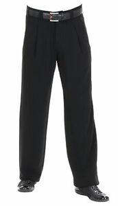 ausgereifte Technologien viel rabatt genießen Luxusmode Details zu Herren Hosen in Schwarz mit Gerade geschnittene Beine, Retro  Vintage Swing Stil