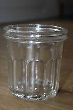 Ancien joli pot à confiture - 10 facettes avec bulles d'air (ref 54)