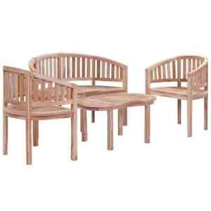 vidaXL-Solid-Teak-Wood-Garden-Lounge-Set-4-Piece-Outdoor-Patio-Bench-Furniture