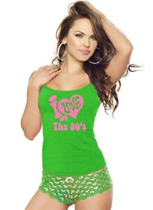 Image Is Loading Womens I Love The 80s Print Pop Star