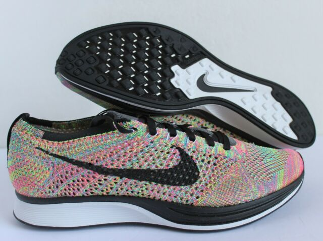 pretty nice ad1e7 cbe4b NIKE FLYKNIT RACER MULTI-COLOR MEN SZ 9    WOMEN SZ 10.5  526628