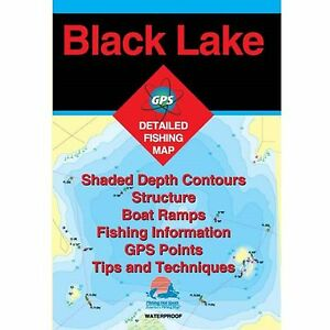 Fishing Hotspots S454 New York Lake Maps Black Lake
