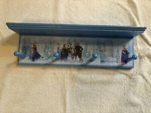 disney frozen princess anna elsa olaf sven wall shelf with pegs