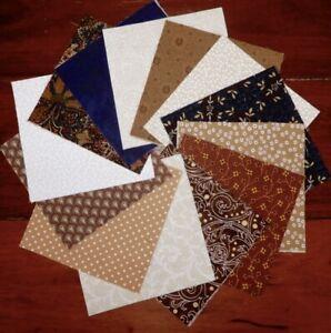 Quilting Patchwork Sewing Fabric CREAM GOLD SWIRLS BATIK Cotton Material 50x5...