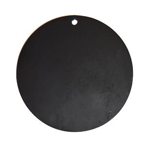 Un círculo de acero AR500 14  X 3 8  Grueso práctica de tiro Pintado De Negro
