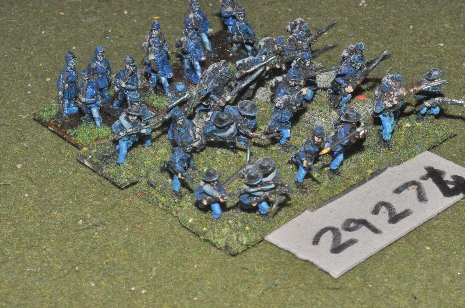 15mm ACW   union - regt 37 figures - inf (29274)