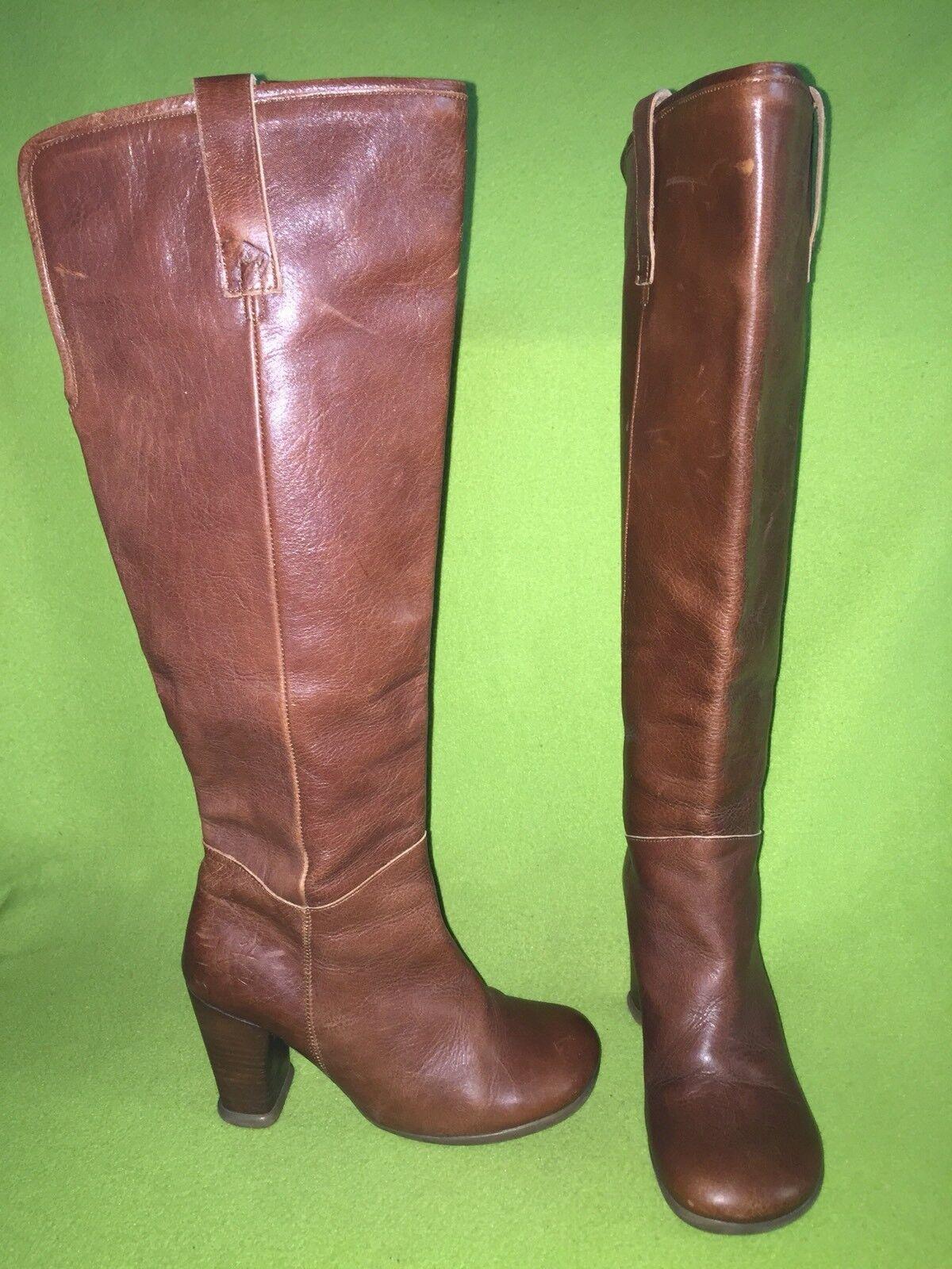 Brown Fluevog Operetta Boots 6