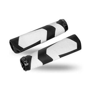 Shimano-PRO-Ergonomic-Lock-On-Grips-Dual-Density-w-Clamps-Blk-White-PRGP0006