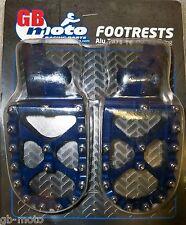 SUZUKI RMZ 250 07-09 / 450 05 - 07 BLUE   FOOT PEGS MX GBMOTO