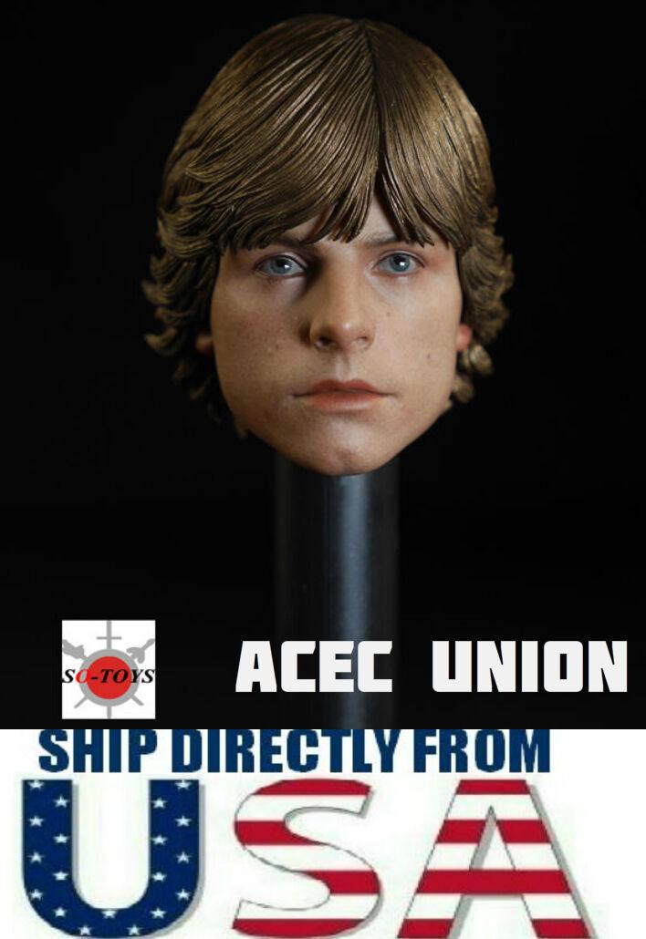 1 6 Luke Skywalker Star Wars Head Sculpt For 12  Hot Toys Figure U.S.A. SELLER