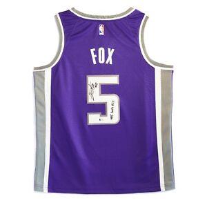 official photos e62b2 27702 Details about De'Aaron Fox Autographed Sacramento Kings Jersey