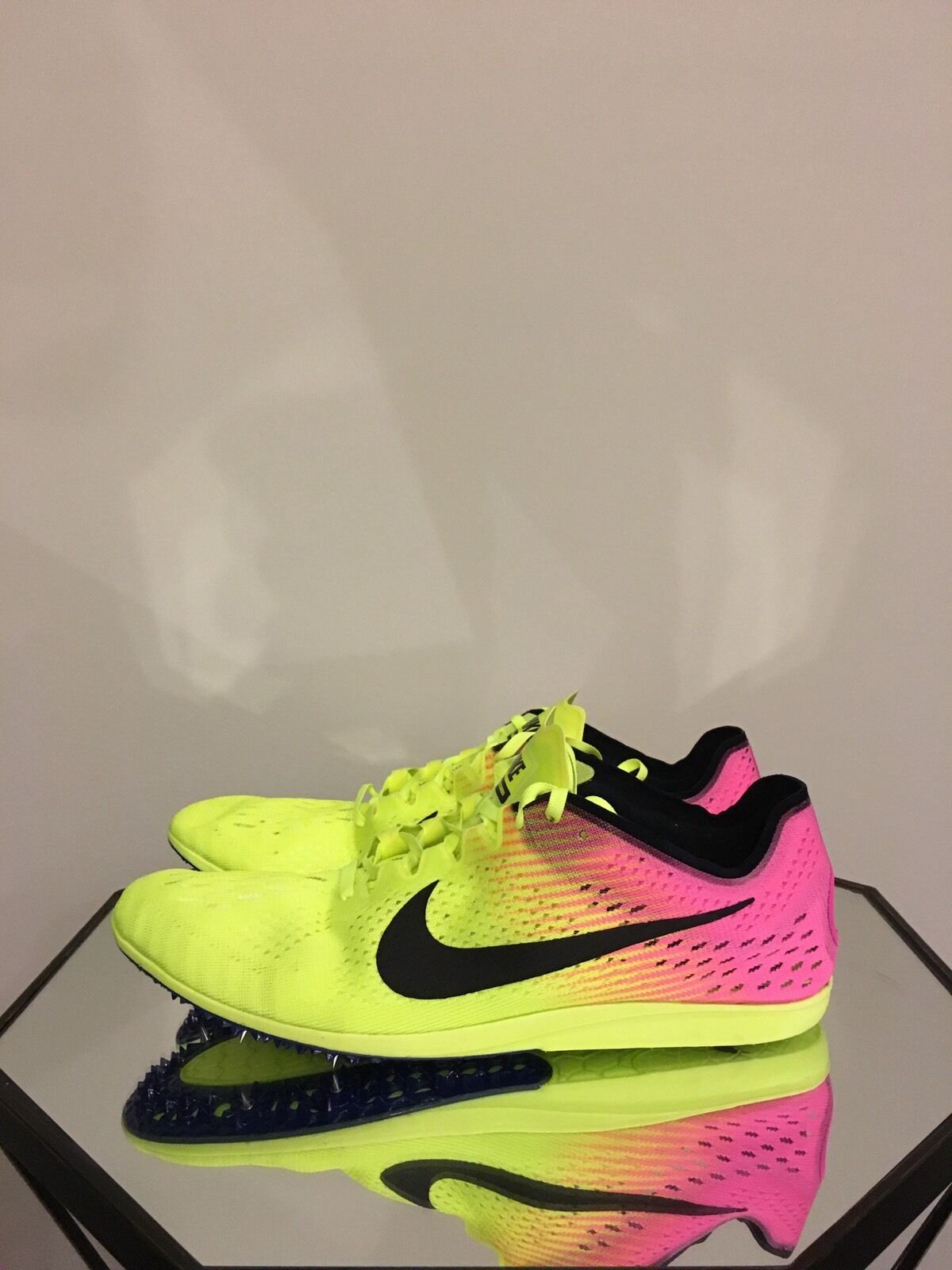 Nike Zoom Matumbo 3 Rio Olympic Track Spikes Volt Pink Men's Sz 13 (835995-999)