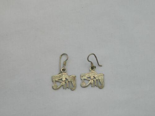 """Egyptian Sterling Silver Eye of Horus Earrings 1.25/"""""""