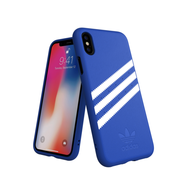 nuovo prodotto 34179 ea8a5 iPhone X / XS Case Moulded Suede adidas Originals - Blue for sale ...