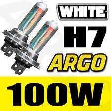 X 2 H7 8500K 100W HEADLIGHT BULBS HID LOOK XENON WHITE FANTASTIC COLOUR !!