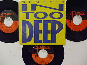 LOT OF 4 ' GENESIS ' HIT 45's+1PS       THE 80's!