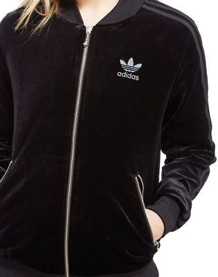 Details about SMALL adidas Women's VELVET VIBES SUPERSTAR TRACK JACKET UK8 US:4 BLACK LAST1