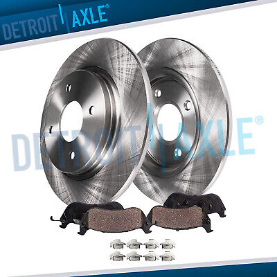 Detroit Axle Rear 328mm Disc Replacement Rotors Ceramic Pads with ...