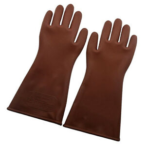 stile classico del 2019 un'altra possibilità scegli genuino Dettagli su guanti isolanti elettrici ad alta tensione 12kv per elettricisti