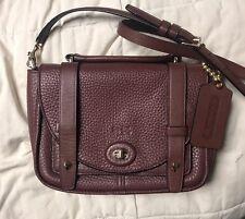 Coach Bleecker Brooklyn Brick Pebbled Leather Messenger Crossbody Bag 32262
