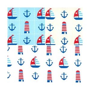 100/% Cotton Poplin Fabric Rose /& Hubble Sailing Nautical Anchors Yacht Sailing