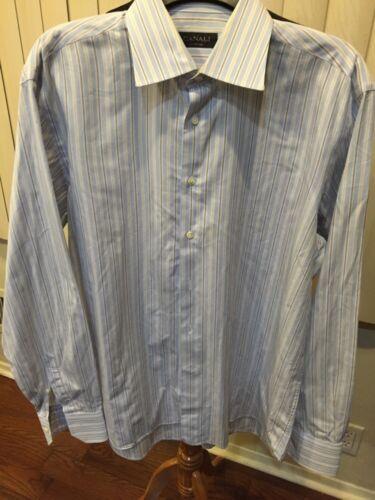 Canali mens Stripe button down shirt  Sz 42/16.5